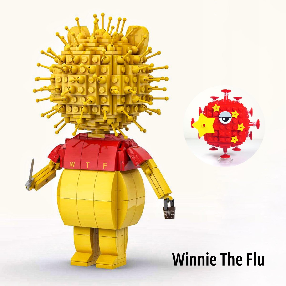 Here is Winnie The Flu that we call as #WTFCredit to Yeahman Tse via Legend Bricks LEGO Forum