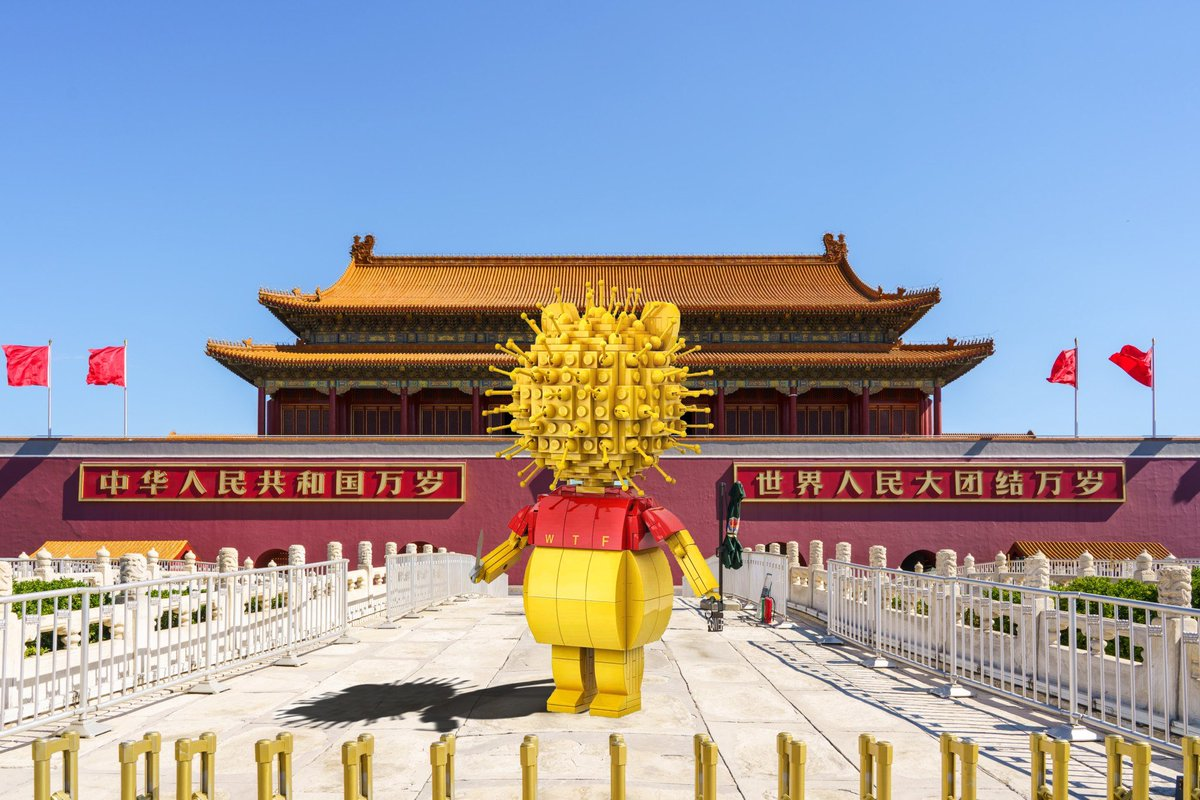 Winnie The Flu in Tiananmen Square!https://www.facebook.com/studioincendo/photos/a.1557839794464104/2535360786711995/?type=3&theater …