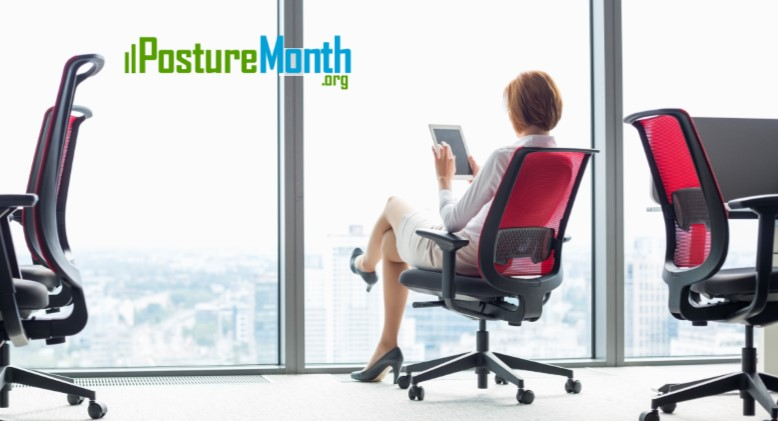 Tip 22 Office Chair - Change positions during the day  |  http://PostureMonth.org    http://PostureMonth.org   #sitting  #backpain  #posture