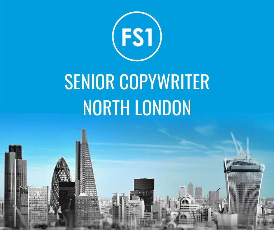 Our client based in #northlondon are looking for a Senior Copywriter to join their team!  https://fs1recruitment.com/job/senior-copywriter/…pic.twitter.com/KFmEk1G39S