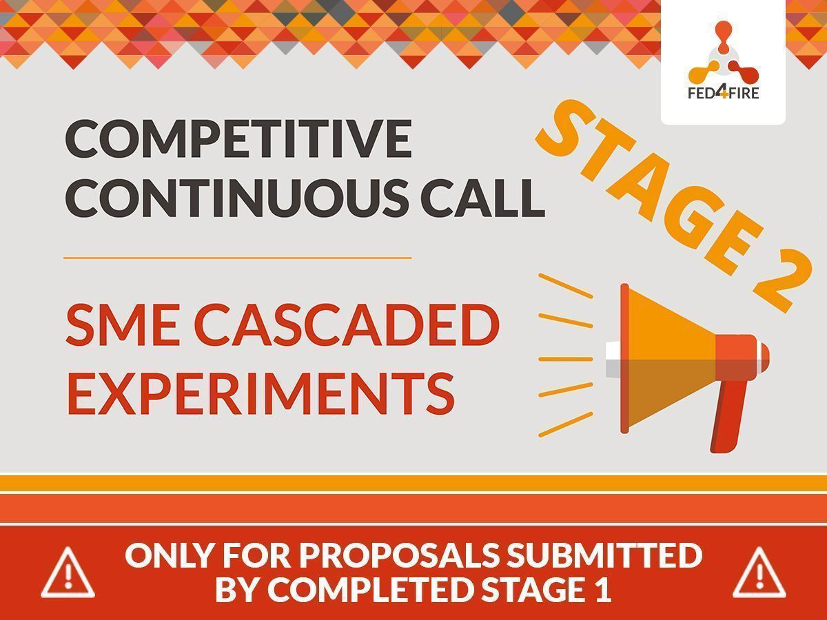 "STAGE 2 for ""#Fed4FIRE+ Continuous Call - #SMEs Cascaded #Experiments"". ONLY for proposals submitted by completed STAGE 1. Don't miss the deadline: tomorrow, 25 February . Read more: https://buff.ly/3aQJ7Sf  #testbed #OpenCall @NGI4eu @EU_Growth @H2020SME @EUSMECentrepic.twitter.com/BEWElUKniq"