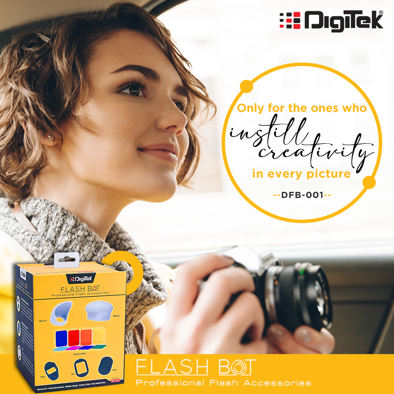 The accessories that set a #photographer out of league! Go creative with #Digitek #FlashBot and impress your clients. https://buff.ly/36FQQyW #photography #photoshoot #flashaccessories #cameragears #photogears #camera #photographers #photooftheday #photographyislife #photopic.twitter.com/scpm0AwywJ