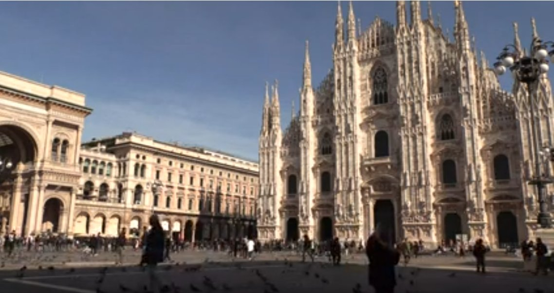 LIVE from #Milan's Piazza del Duomo as #Coronavirus cases spike in Italy LIVE: bit.ly/396GABK