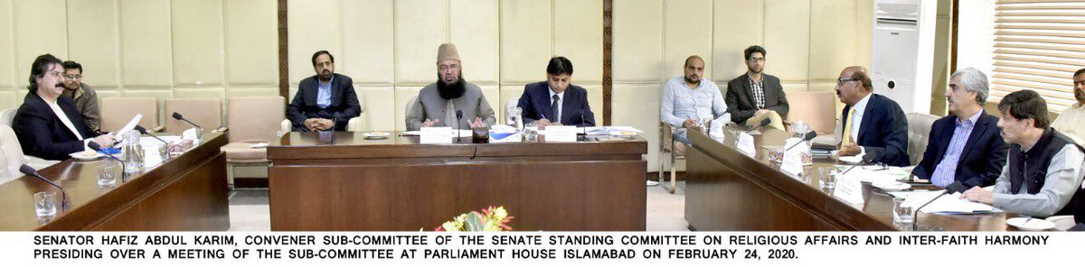Sub-Committee on the Senate Standing Committee on Religious Affairs and Inter-Faith Harmony in its meeting held on Monday at Parliament House, discussed the detail of cost increase of the Hajj Package.  Cost reduction options were also discussed. pic.twitter.com/QHKQ2AEXQc