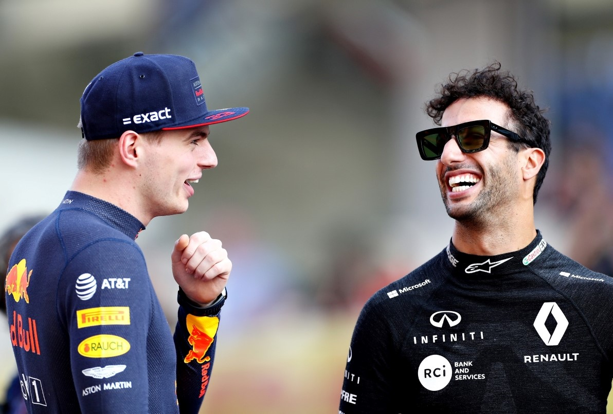 #Verstappen: 'Very fast' #Ricciardo would be smiling more at the front  Read more here >> http://bit.ly/VER-RIC-Smiling-Front…  #F1