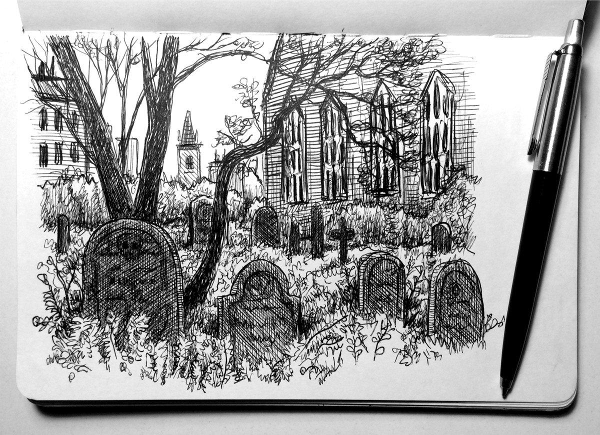 Cemetery sketch.