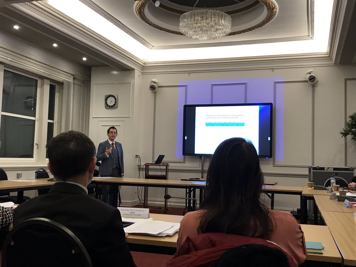 """Darren Hardy, Assistant Director for Housing and Economic Development, is giving an overview of the #housing stock in #Liverpool.   """"There is a geographical correlation between poor housing, poor health and poor income.""""  #localgov"""