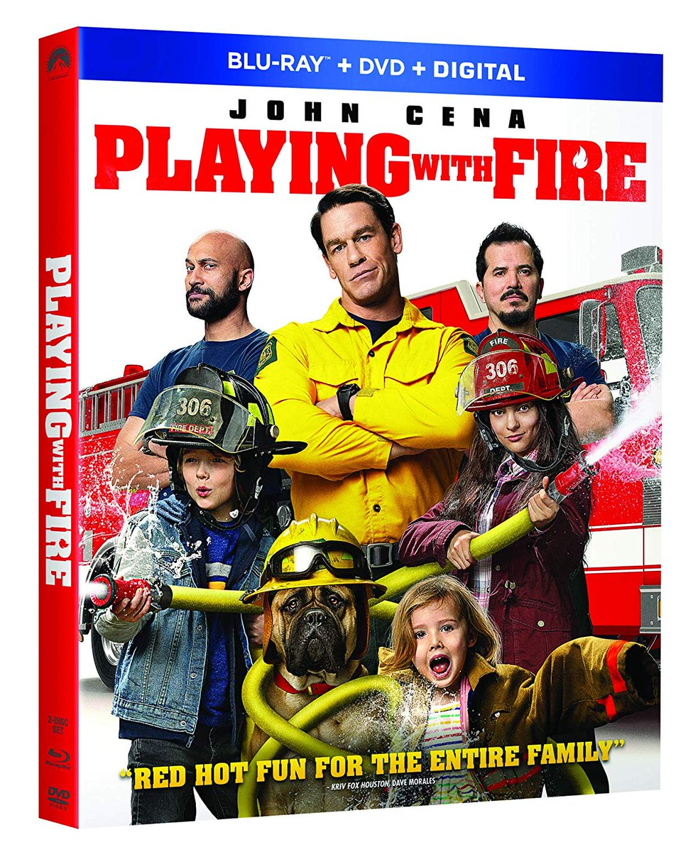 Are you looking for a funny movie to watch with your family? Check out Playing With Fire, which is now available on Blu-ray, DVD, and digital. It stars John Cena, Keegan-Michael Key & John Leguizamo. http://bit.ly/2SU8qvt  #PlayingWithFIre #PlayingWithFireMovie @PlayingWFirepic.twitter.com/YjIIqca1cd