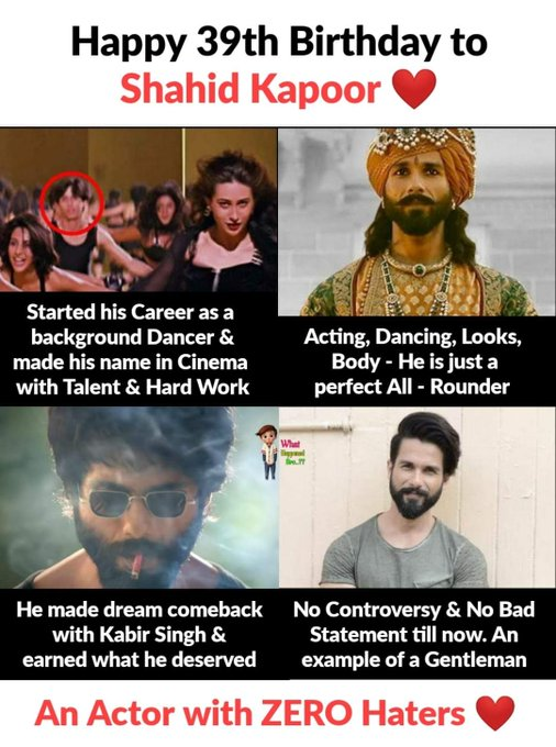 Happy Birthday Shahid Kapoor