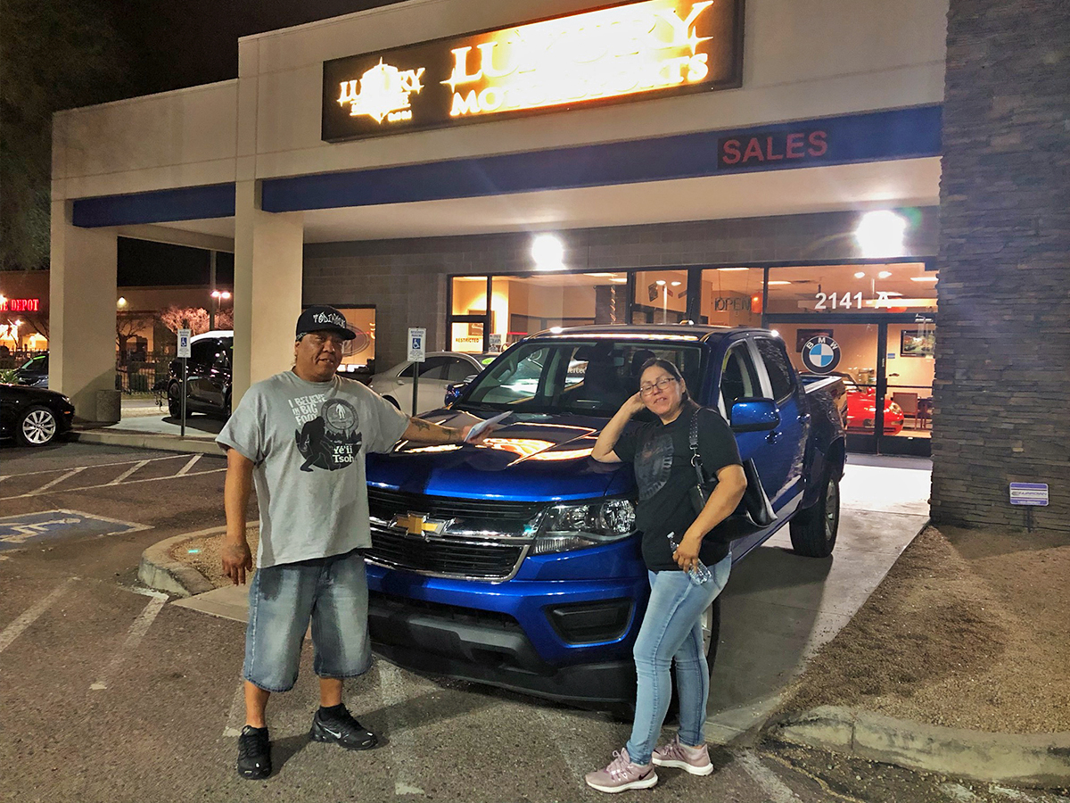 Congrats to Nelvin & Elvira on purchasing this loaded 2018 Chevrolet Colorado LT! Thanks for your business guys and thanks for shopping with LMS!  #luxurymotorsportspic.twitter.com/gBaqsxxfab