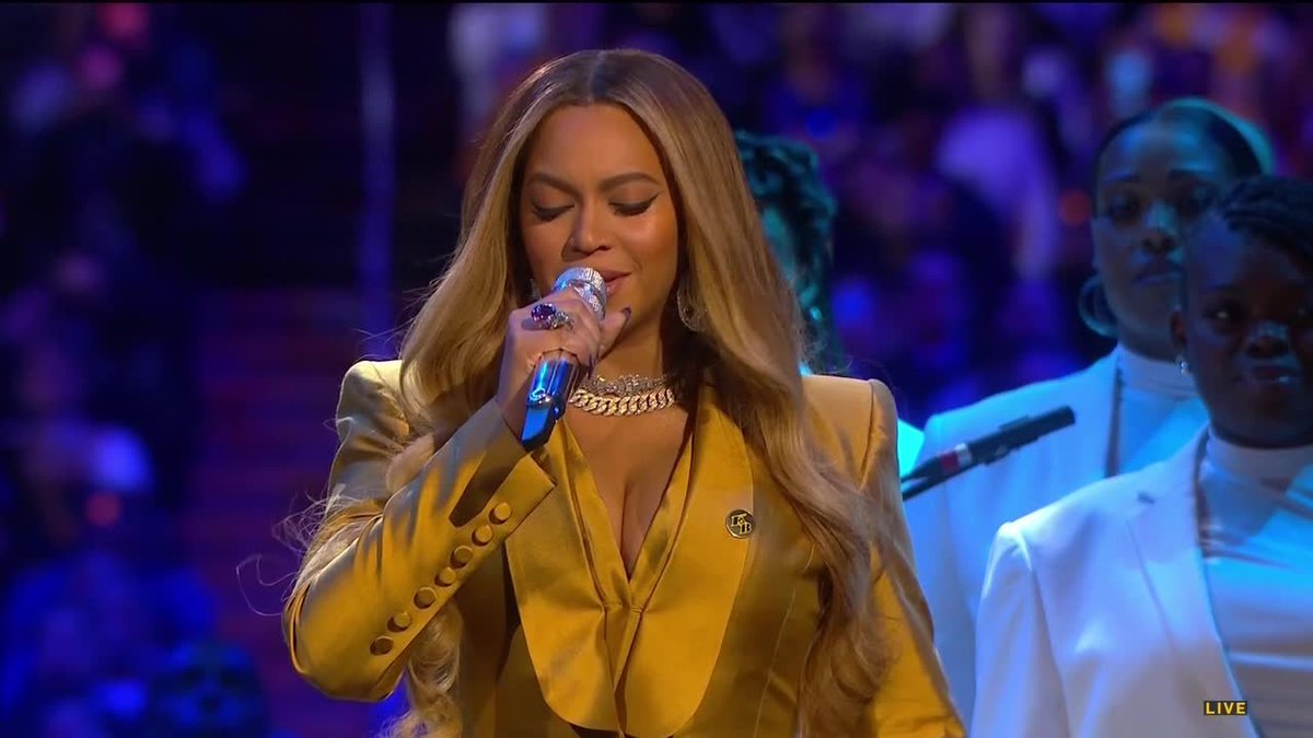 Replying to @NBATV: Beyoncé opens Kobe & Gianna's Celebration of Life with one of his favorite songs.  (via @SpectrumSN)