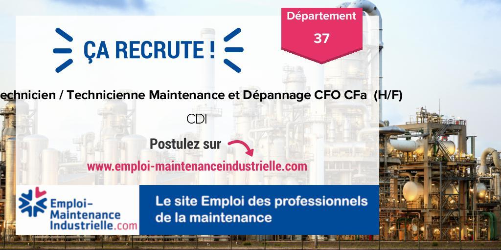 Technicien / Technicienne Maintenance et Dépannage CFO CFa  (H/F) (CDI)  à TOURS (37 Indre-et-Loire). Expérience : 4-8 ans. #emploi #technicien #maintenance Postulez ! https://www.emploi-maintenanceindustrielle.com/offre-emploi/16212/CDI-Technicien---Technicienne-Maintenance-et-Dépannage-CFO-CFa--(H-F)-Autres-TOURS…