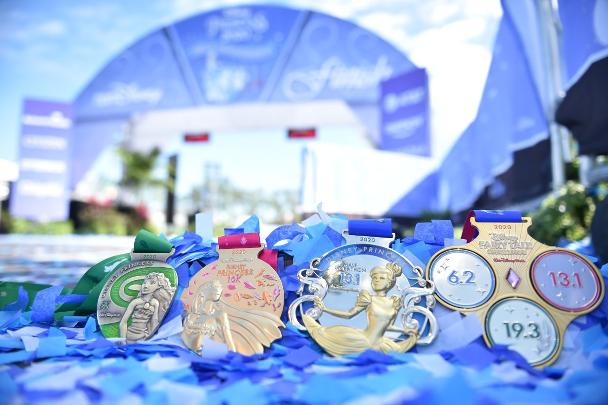 What a fairy tale finish! Congratulations to all runners of the @runDisney 2020 #PrincessHalf Weekend!<br>http://pic.twitter.com/5LngDn4PXB