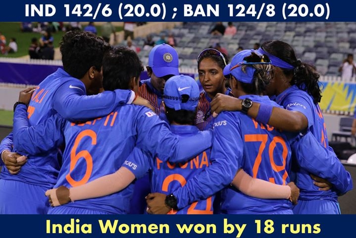 Two wins from two for Team India Scorecard :  http:// bit.ly/2VjKYJB     #T20WorldCup  #WWT20 #INDvBAN <br>http://pic.twitter.com/mW2ZbFEl7N