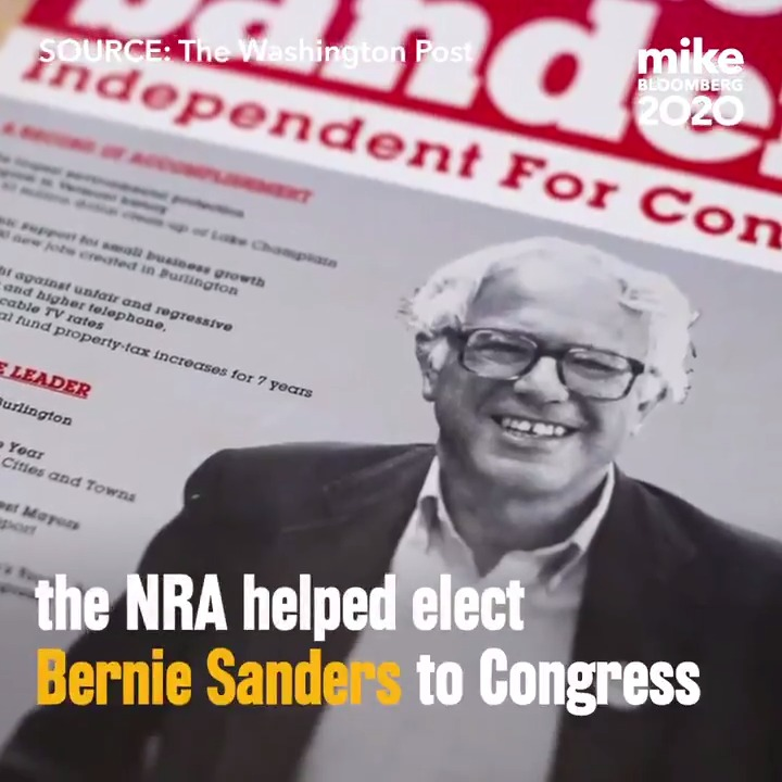 The NRA paved the road to Washington for Bernie Sanders.  He spent the next three decades making sure they got a return on their investment.  We deserve a president who is not beholden to the gun lobby.  #NotMeNRA