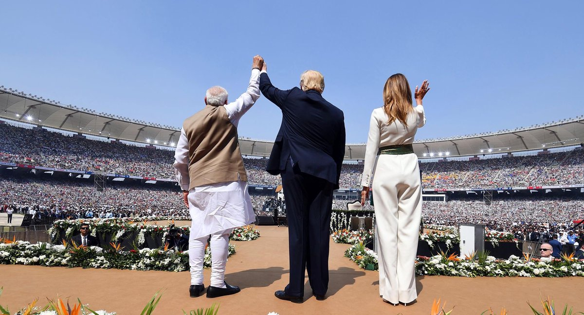 From this day on, India will hold a very special place in our hearts: US president Trump in Gujarat