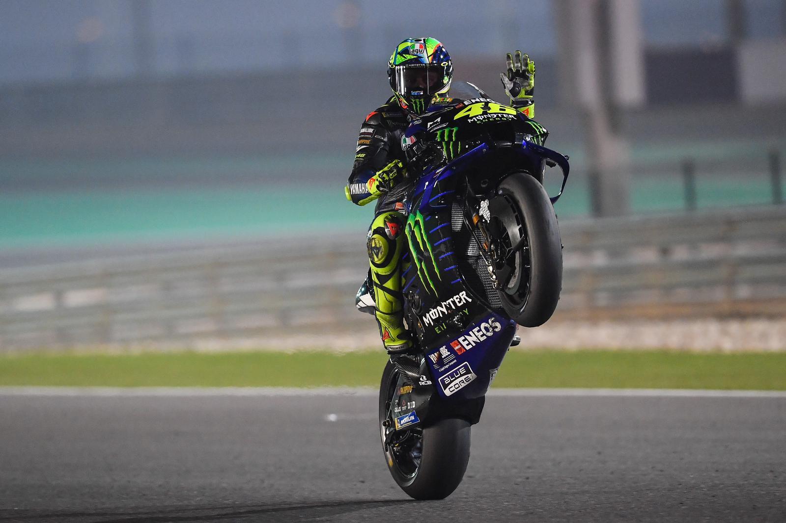 Valentino Rossi saat tes pramusim di Sirkuit Losail, Qatar
