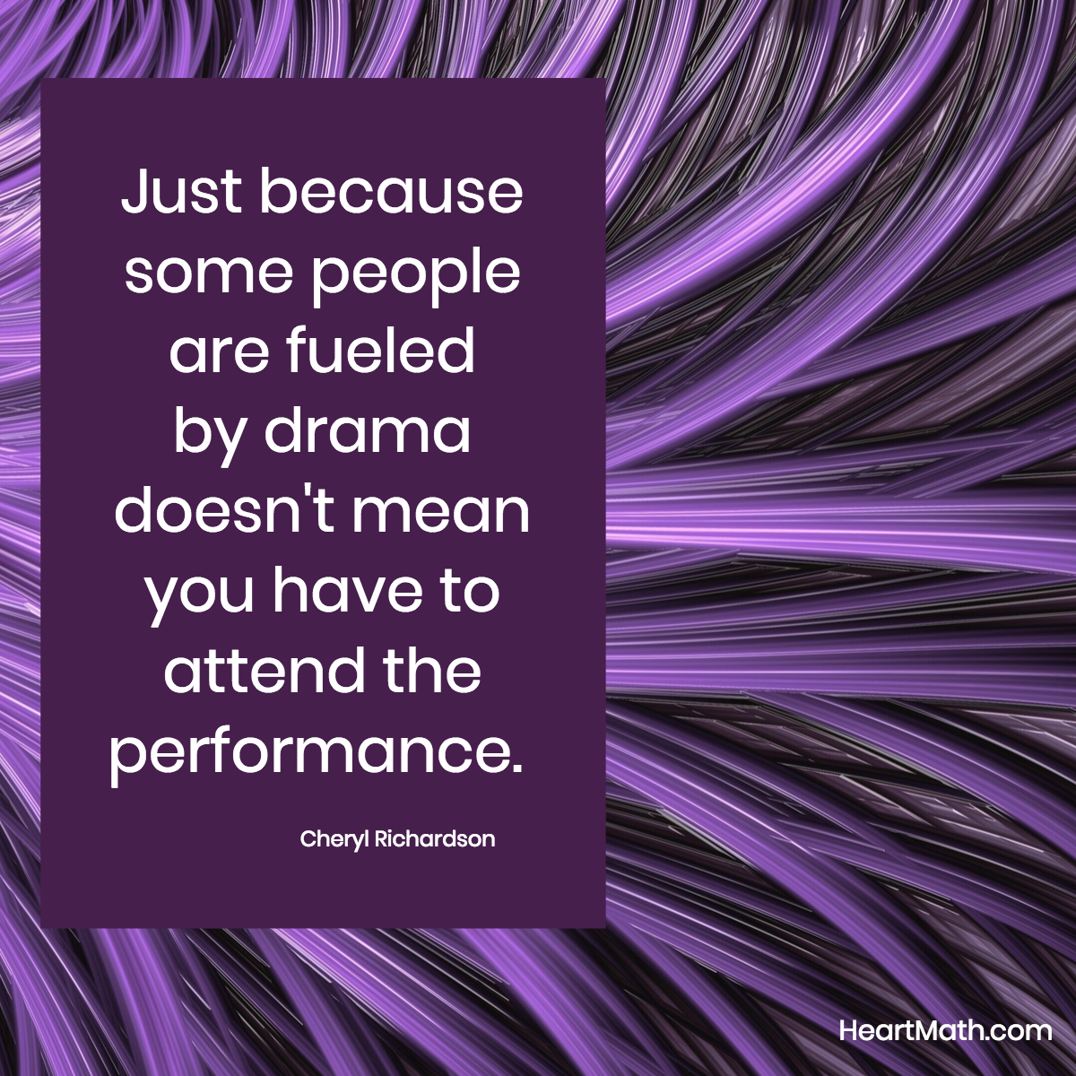 We can send compassion and not participate in the performance. #compassion #addheart #drama #uplift #patience