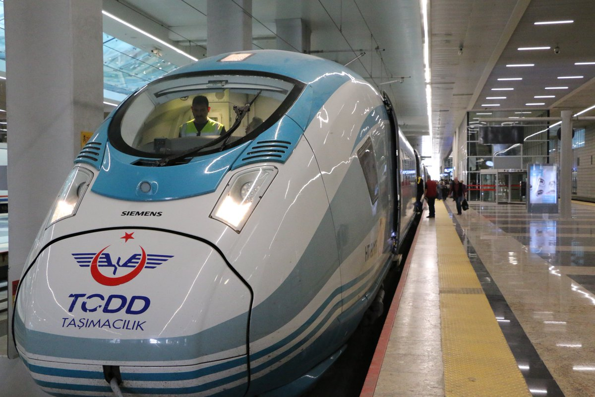 We proudly contributed to linking #Ankara to Konya via a magnificent High Speed Train travelling at 250 k/h - looking forward to launching the Light Rail Transit Projects for #Gaziray #Kayseri #Konya at EUR 120 Mil. Great #transport coop. btwn #IsDB and #Turkey - @TCDDTasimacilik