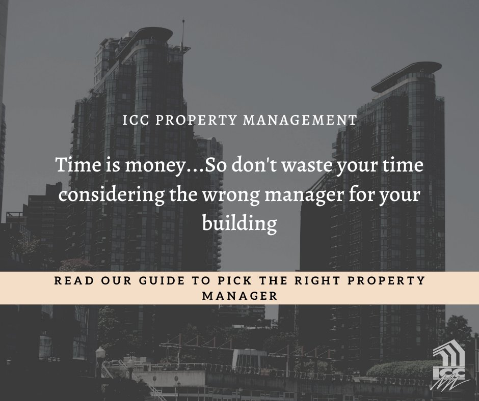 Choosing the right property manager for your building can feel pretty daunting! Don't let that intimidate you...Read our guide to learn the right strategist to pick the right property manager for your building! https://buff.ly/2C5Uplw #iccpropertymanagement #propertymanager pic.twitter.com/d7tgknfknl
