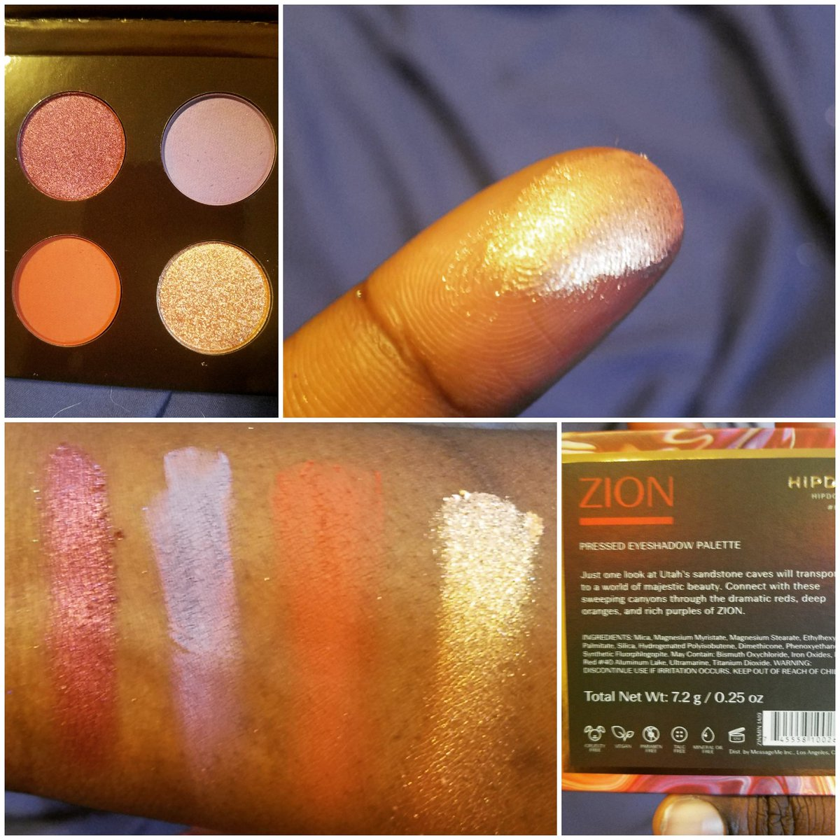 @HipDotCosmetics Zion Mini Palette Swatches   #hipdot #makeupswatches #makeup