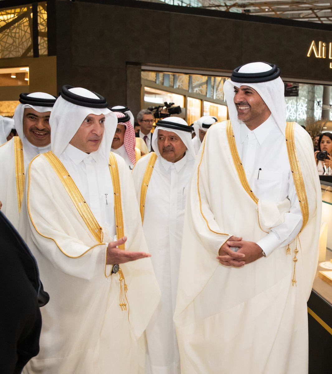 "Qatar Airways on Twitter: ""#QatarAirways welcomed VIPs to a glamourous  opening day of the #DJWE2020, held under the patronage of His Excellency  Sheikh Khalid bin Khalifa bin Abdulaziz Al Thani, Prime Minister"