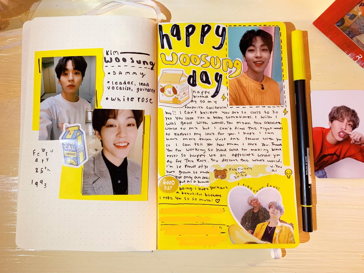 happy birthday to the rose's beautiful leader    i love this spread so much :( i had so much fun making it!!  #HappyWoosungDay #OurMoonWoosung #WeWillWaitForTheRose <br>http://pic.twitter.com/bqDtiuGoH5