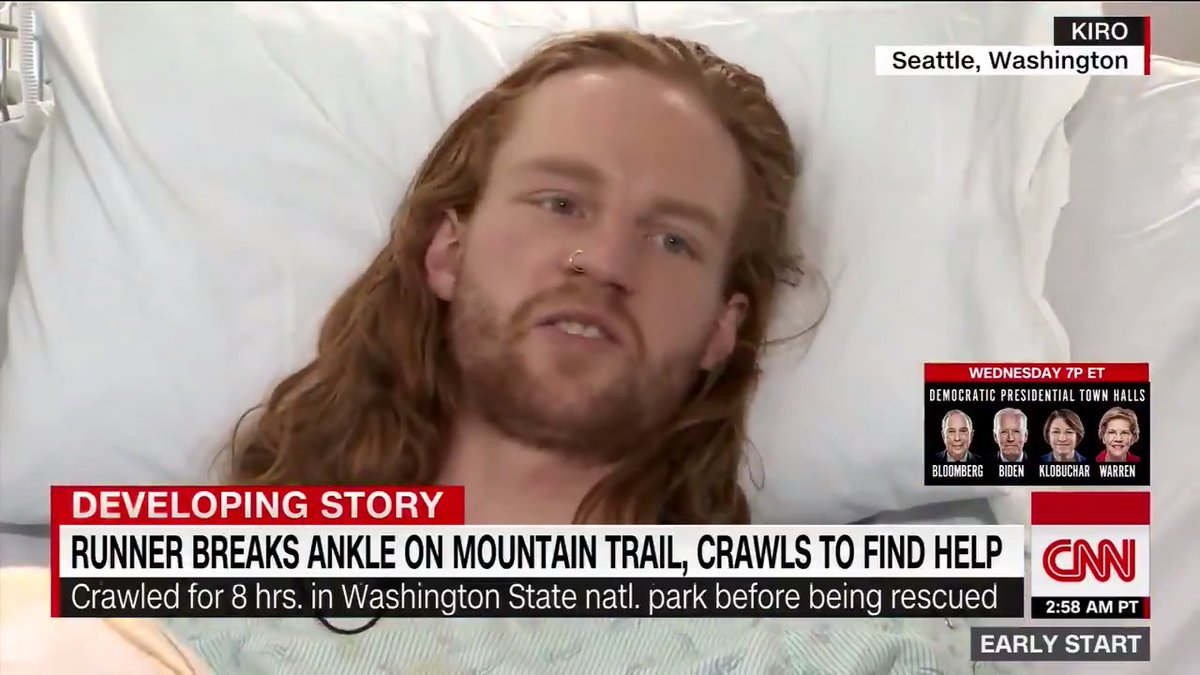 A runner crawled for nearly eight hours in freezing temperatures to find help after injuring his leg in a national park in Washington, authorities said. https://cnn.it/32oGgvC