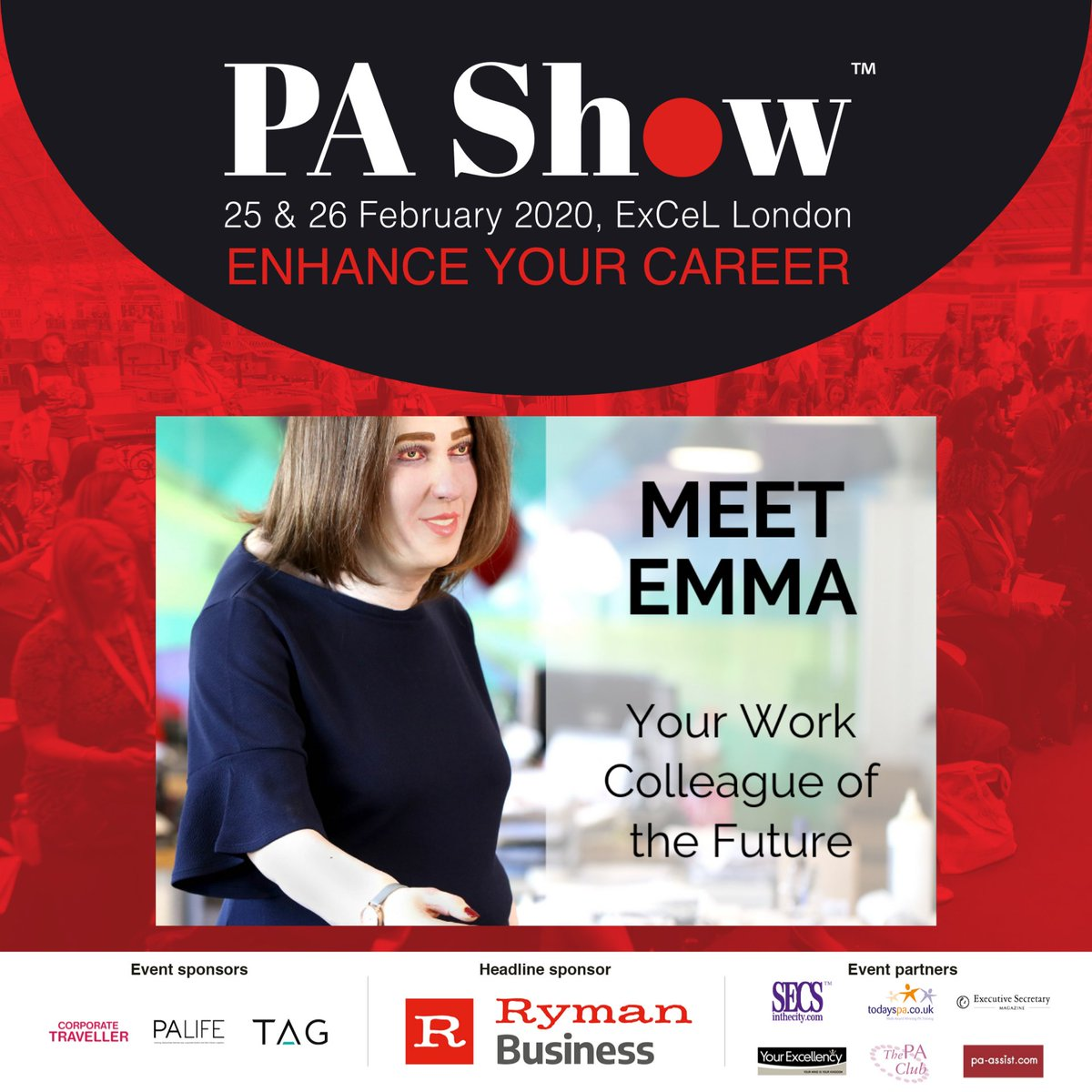 Visit the Lyreco Stand #F08P and meet Emma - the work colleague of the future that has gone viral. She is a life-sized representation of how we could look in 20 years' time due to inadequate workstation setups and if we continue to work with poor posture. #HelloEmma 😳