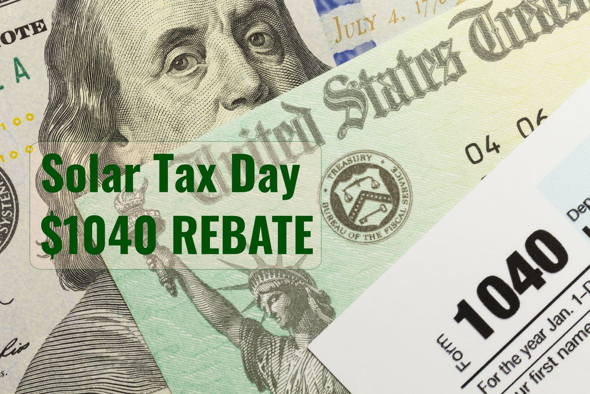 Go solar and receive a $1040 rebate! (New contracts must be signed by Tax Day 4/15/20) Contact us: 774-229-2986 or http://gotsun-gosolar.com Valid in MA & RI  #solar #solarpower #taxday #rebatepic.twitter.com/4FreSZW1wb