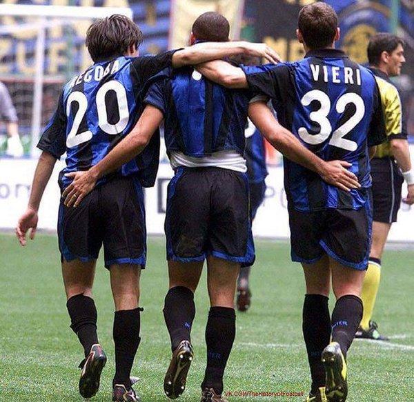 "90s Football on Twitter: ""Alvaro Recoba, Ronaldo and Christian ..."
