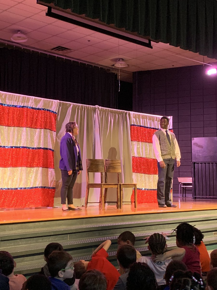 Bright Star assembly on Dr. Martin Luther King. @PowellesPLAY