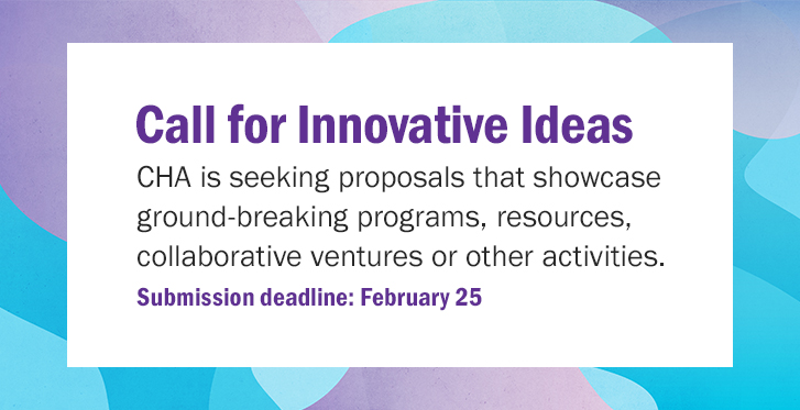 Tomorrow (Feb. 25) is the final day to submit a proposal for the Call for Innovative Ideas. Submissions will be considered for a variety of mediums, such as Assembly 2020, publications & other CHA programs. Learn more and submit today at http://www.chausa.org/innovativeideas  #CatholicHealth