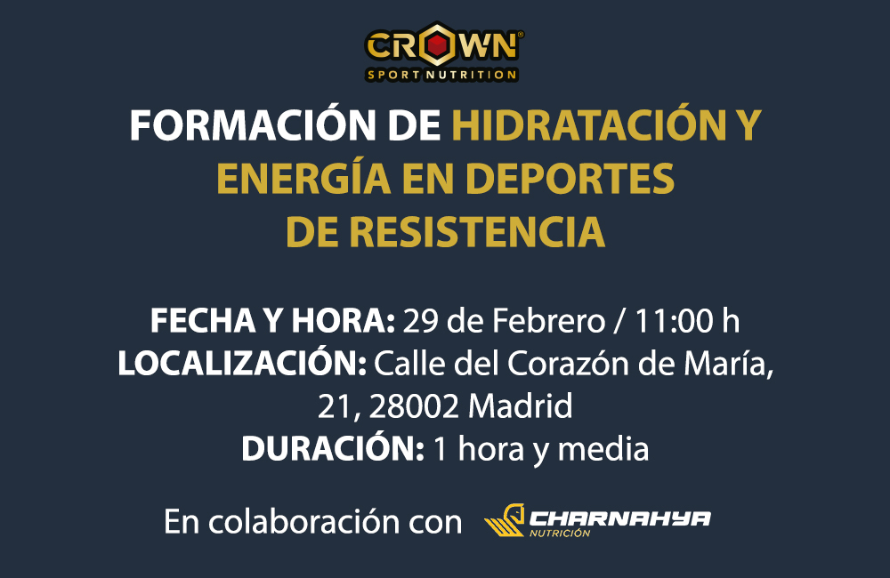 ¿Tienes dudas de cómo nutrirte e hidratarte en carrera?  Entonces ven a nuestra formación GRATUITA que tendrá lugar en las instalaciones del gimnasio @rockgymspain en #Madrid. ¡Te esperamos el 29 de febrero!  Inscripciones https://crownsportnutrition.com/formacion-hidratacion-y-energia/?wpam_id=7…pic.twitter.com/NEIYWGnKfA