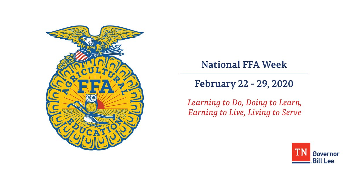 FFA prepares our nation's youth by developing their potential for leadership, growth & career success through ag education. Proud to support the life-changing work of @NationalFFA & our 14,000+ @TNFFAFoundation members right here in the Volunteer State.