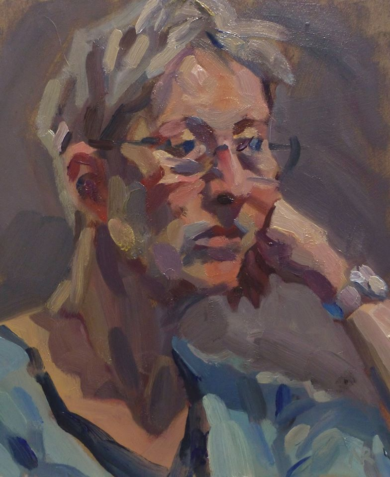 Portrait of Jeanette, oil on board 2 hours, I asked her to adopt this pose for an extra challenge! #portrait #portraiture #portraitpainting #oilpainting #paintinginoils #portraitinoils #paintingfromlife #portraiture #impasto #portraitartist #paintingprocess #painting #allaprimapic.twitter.com/tWgL31gg1s
