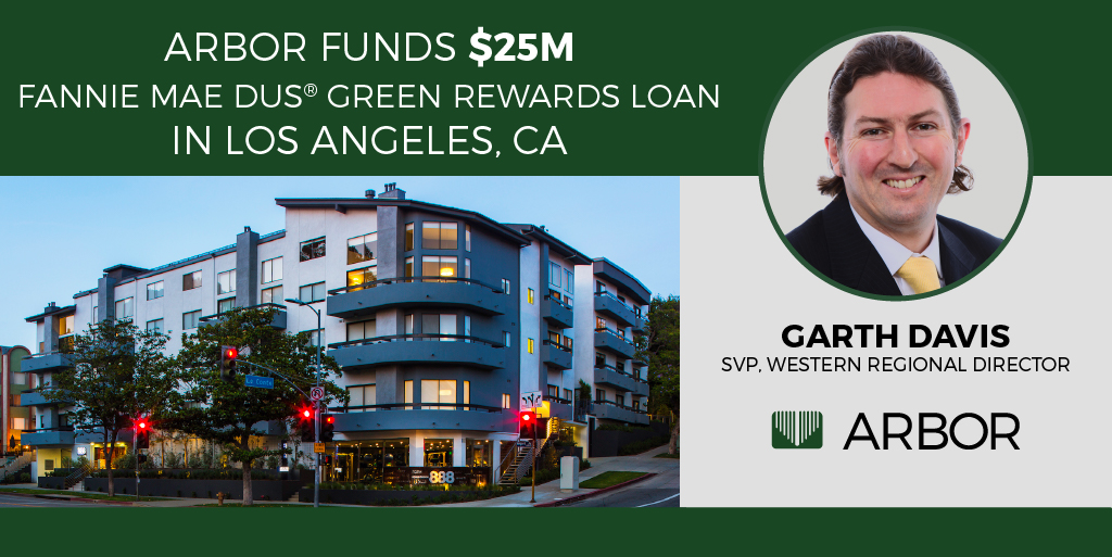 Nice job by Arbor's Garth Davis on closing a $25M Fannie Mae DUS® Green Rewards Loan in Los Angeles, CA! Learn more about the deal: http://bit.ly/2PAm1pZ  #ArborRealtyTrust #RealEstate #CRE #MultifamilyRealEstate #MultifamilyHousing #FannieMaeDUSpic.twitter.com/WNFl5nBekw