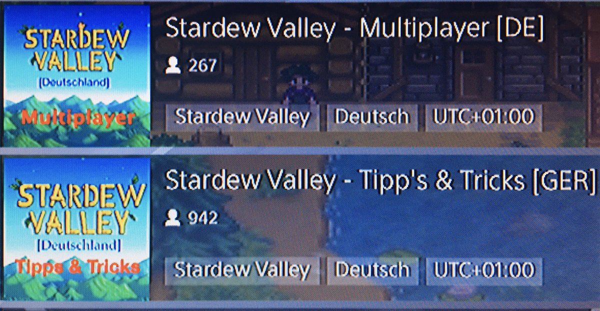 Ihr zockt #StardewValley auf der #PS4 und braucht Hilfe? Oder sucht ihr Farmer für ein Co-oP Spiel? Hier findet ihr Hilfe und Mitspieler #PlayStationCommunity #Eigenwerbung #PlayStation @ConcernedApe #Germancommunity #gamerliebe pic.twitter.com/sp3Seo7ZzN