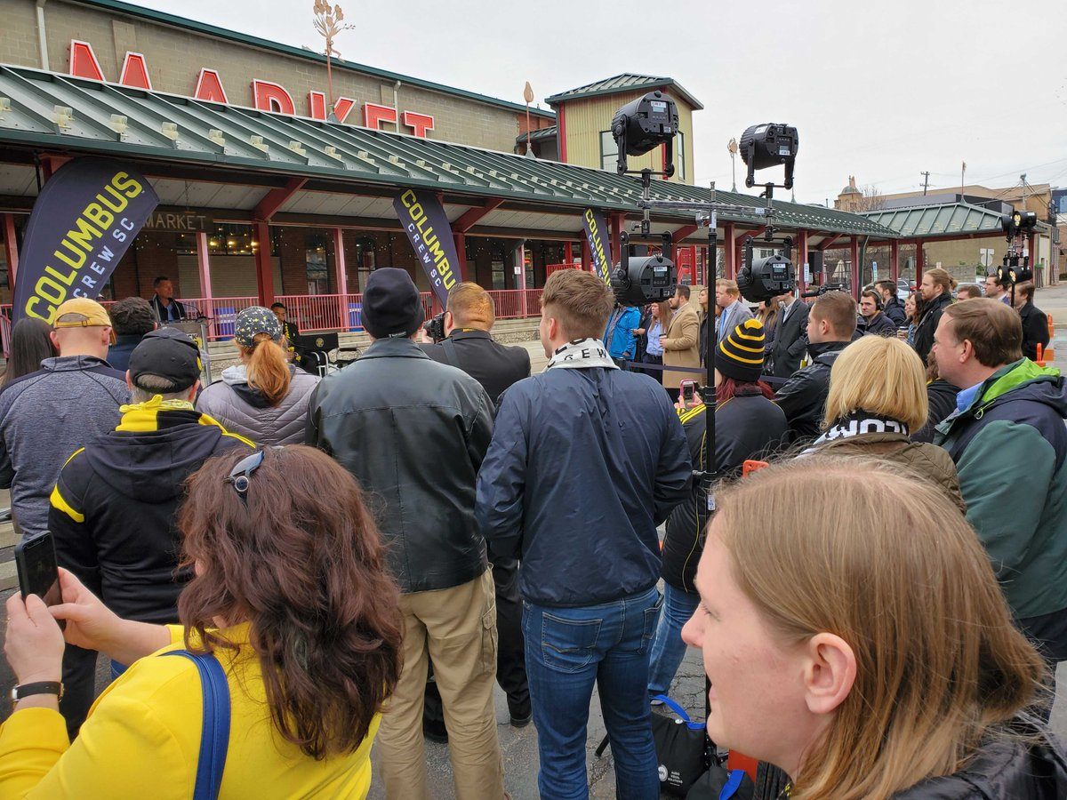 The 25th Black and Gold Week officially underway at the North Market! #Crew96 #PorColumbus #Nordecke