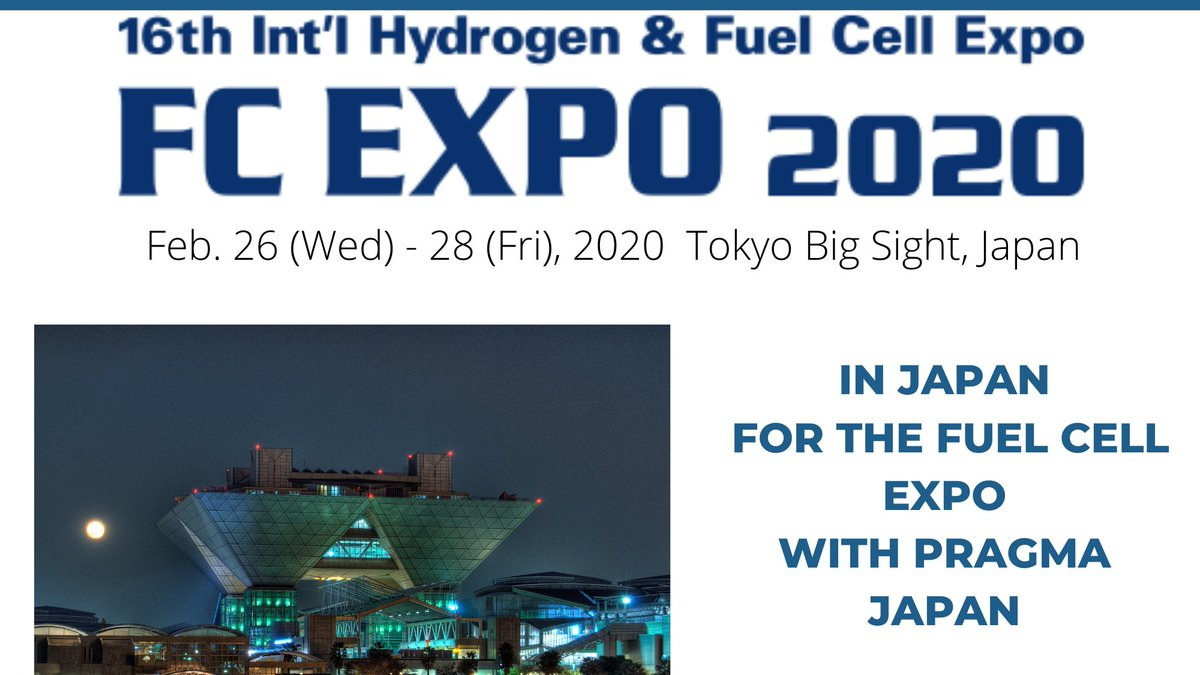 We will be back in Japan on February 26 at the Fuel cell expo during @Worldsmartenergyweek with our Partner Pragma Japan #fuelcell  #水素自転車 #スマートエネルギ