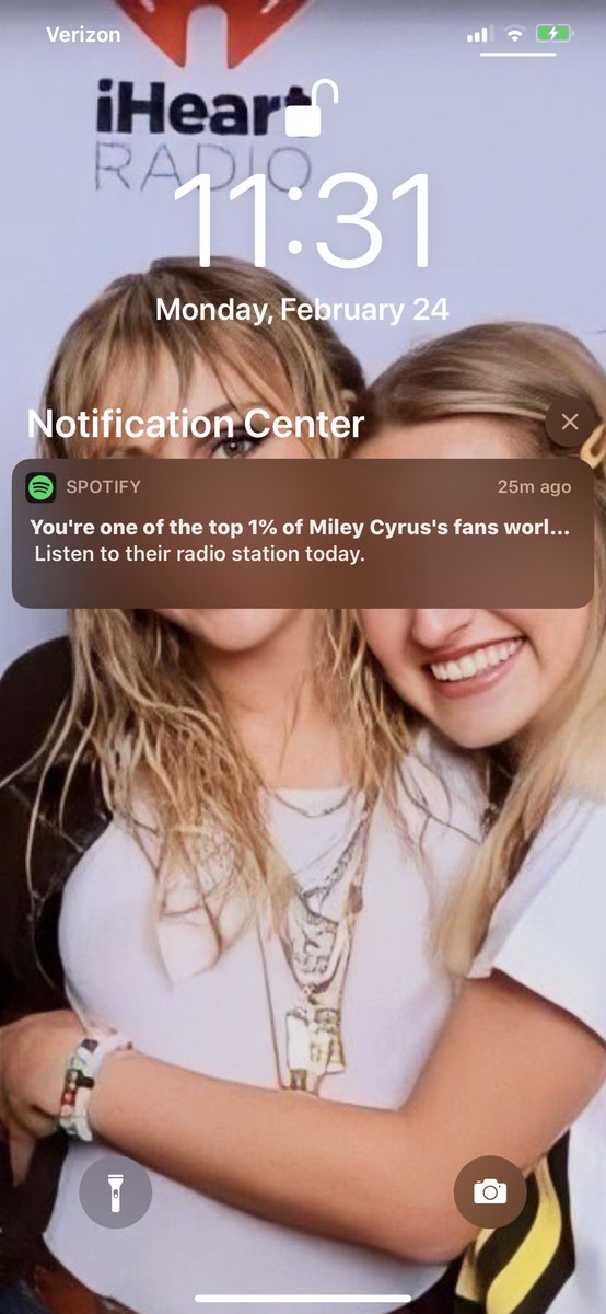 Spotify told me today that I'm one of the top 1% of Miley Cyrus's fans worldwide 🤩