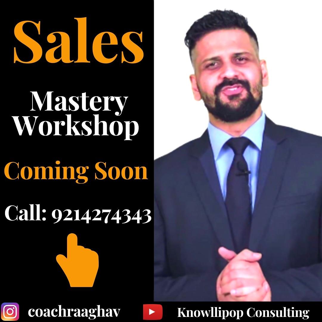 I'm super pepped up to announce my next Sales Mastery Workshop in Jaipur. Let's get connected on #Instagram @coachraaghav to get the further updates.  #Knowllipop #EmailMarketing #branding #salestraining #entrepreneurship #HighTicketClosing #ArtofPersuasion #SalesMasteryWorkshoppic.twitter.com/Dwsqm5jRg5