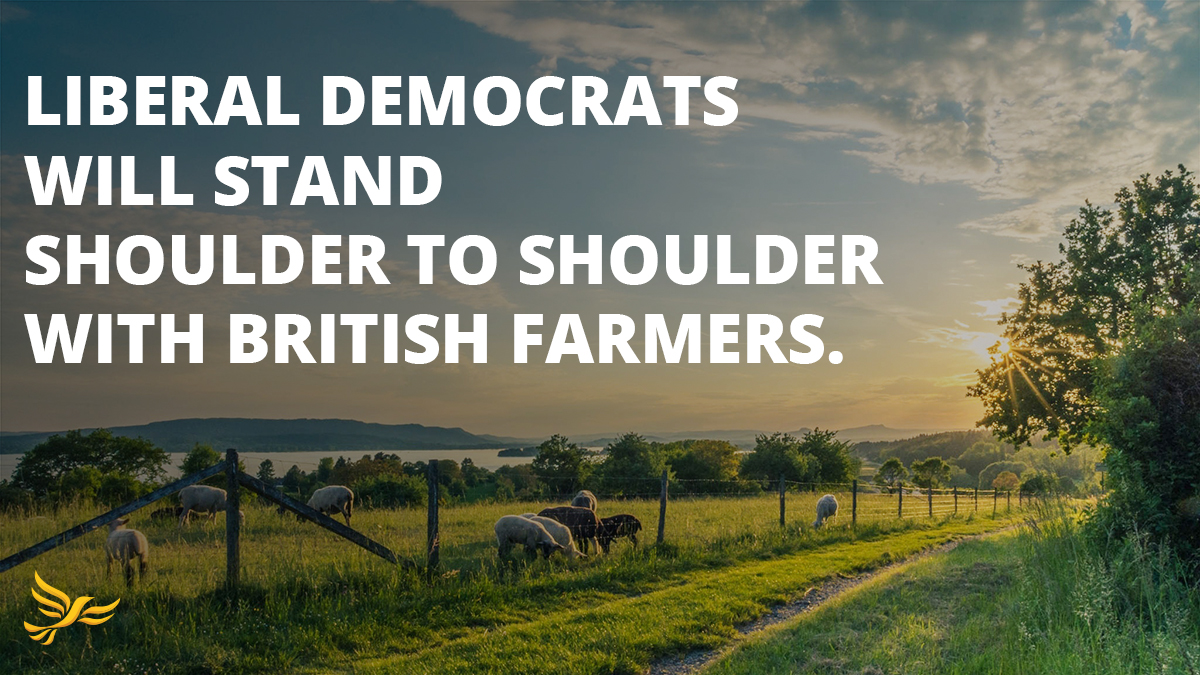 Farming communities up and down the country are rightly concerned about being undercut by low-standard imports from the US. Liberal Democrats will stand shoulder to shoulder with British farmers & consumers and stop Boris Johnson ramming through a damaging Trump trade deal.