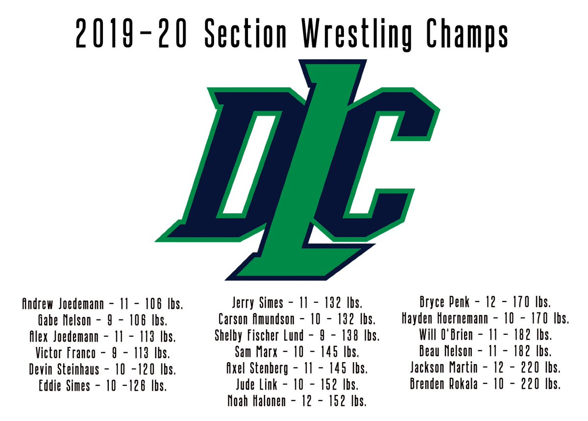 The DCL wrestling team travels to the Xcel Energy Center on Thursday! Be sure to come and support the team! #state #golitch