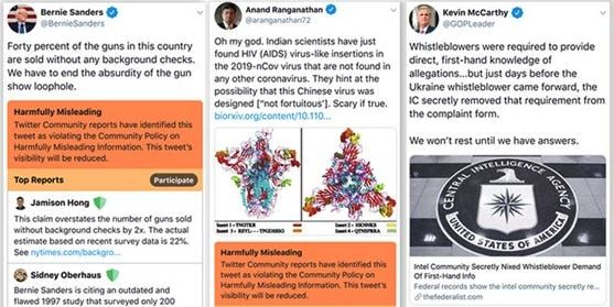 Twitter is using bright orange and red labels to fight misinformation: