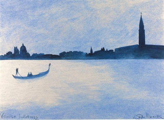 """Venice"" by Leon Spilliaert, 1932.   #art #watercolor #watercoloroftheday"