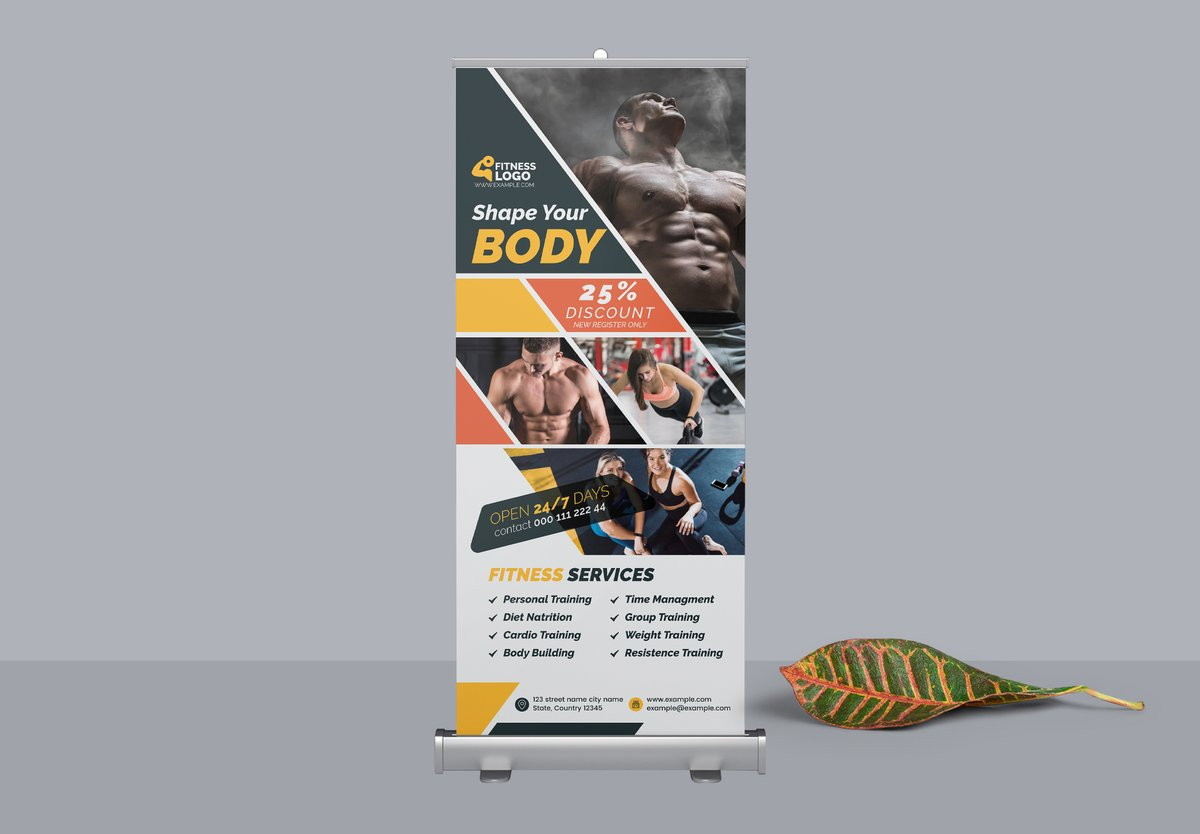 Check out Fitness Roll-up Banner by Cristal Pioneer at Creative Market   #ads #advert #advertise #advertising #athletic #banners #bodybuilding #bodyshape #business #campaign #fitness, #gym #health #marketing #muscle #productpromotion #rollup #sport #workout