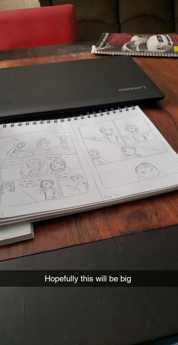 Spent my weekend preparing my fan comic   #heartlessquail #art #doodle #fanart #wip #sketch #comicdraft