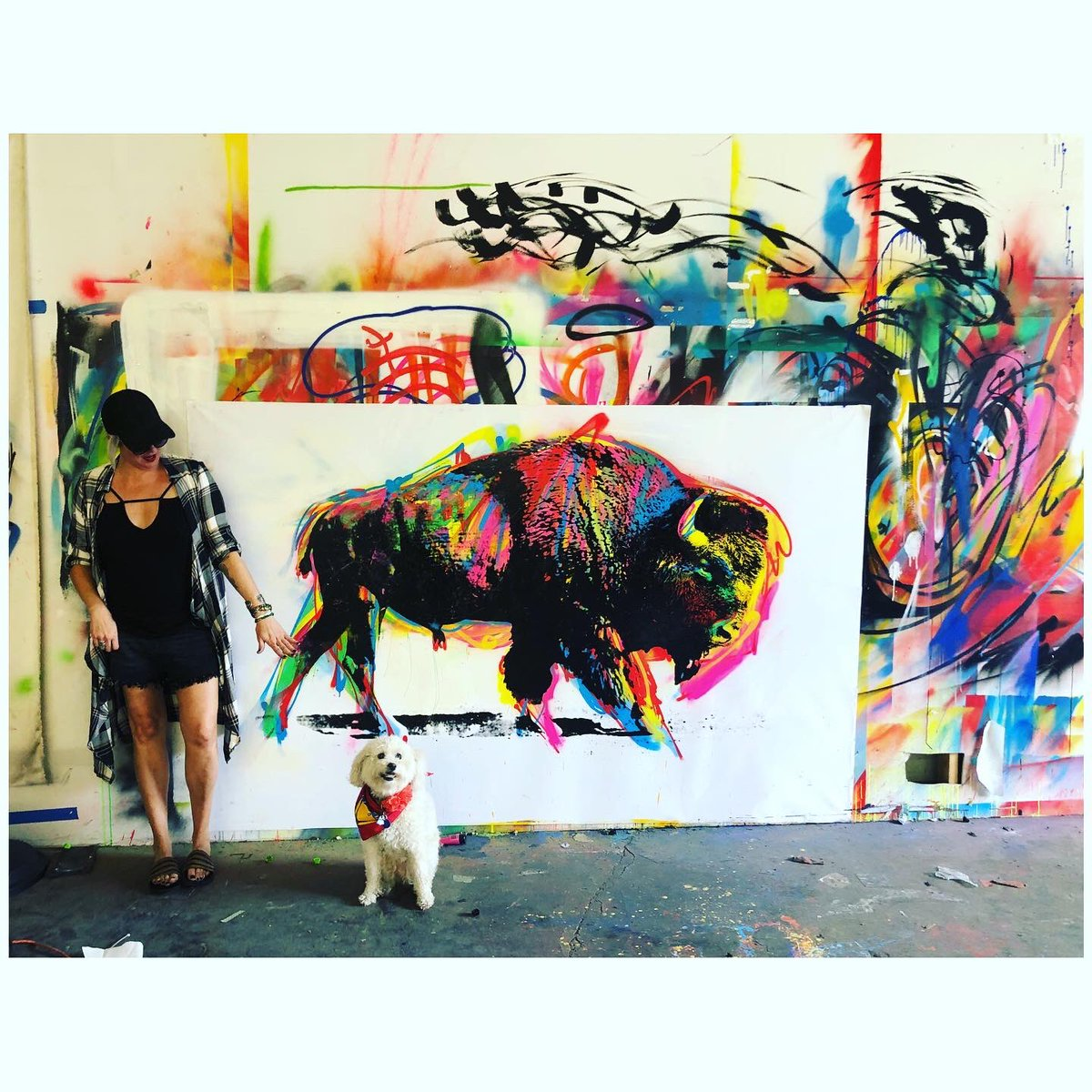 Love these new #paintings - 🖤 Please email me for more info.  #art #Buffalo #interiordesign #interior #design #streetart  #colorful #decor