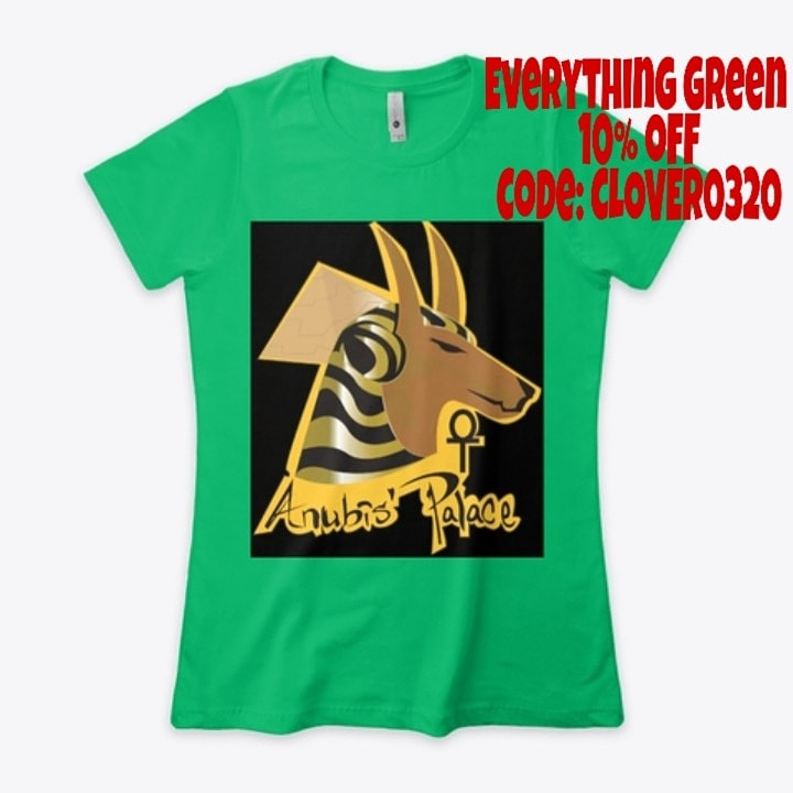 Need something green for St. Patrick's Day or you just like the color green? We have everything green 10% off, now until March 17th. Only at  #green #StPatricksDay #tshirt #salehere #anubis #anubispalace #hoodies #Twitter #instagram #Facebook #march